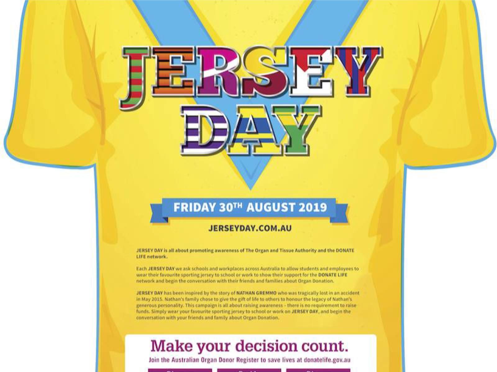 Jersey Day Awareness 2019